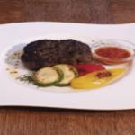 エゾ鹿のハンバーグステーキ